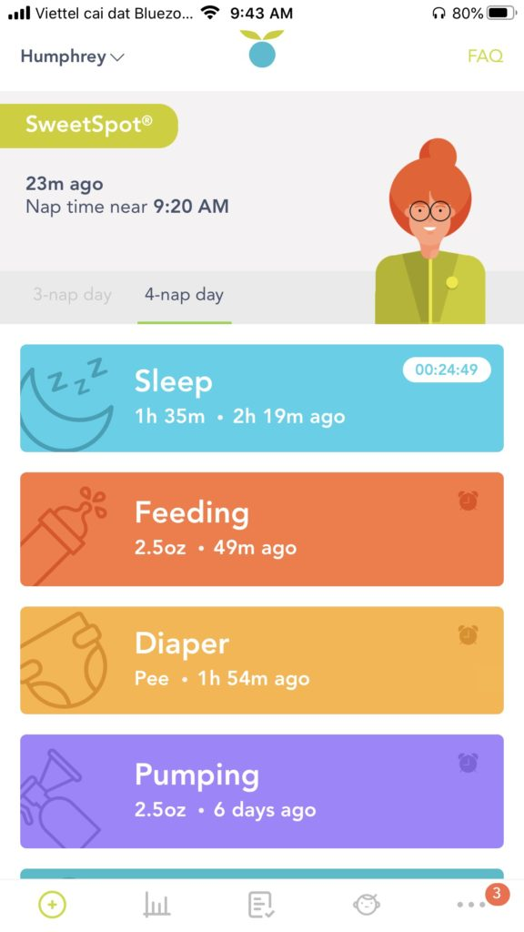 Review of the Huckleberry Baby Tracking App: Sweet Spot
